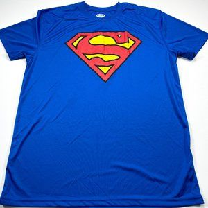 Superman L Blue Short Sleeve Active Wear T-Shirt